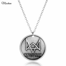 MQCHUN Watch Dog Alloy Pendant Watchdog Necklace Shooting Game Jewelry Gifts For Player Gamers Aiden Pearce