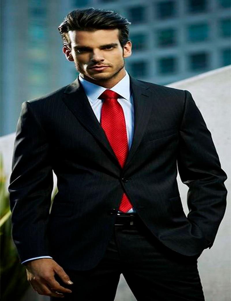 Black Pinstripe Suit Wedding