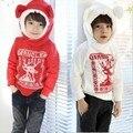2015 de algodão de linho meninos e meninas casacos de capuz veados de natal