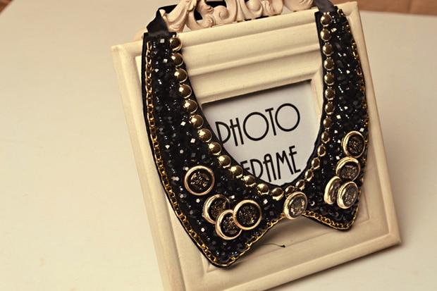 3 colores moda vintage personalidad popular único hueco del grano Encaje  rhinestone sector cuello Encaje gargantilla falso Collar para las mujeres ccce378b46f0