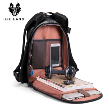 LIELANG Backpack Leather men Trend Youth Leisure Travel Mens Simple Fashion College Student Computer Bag