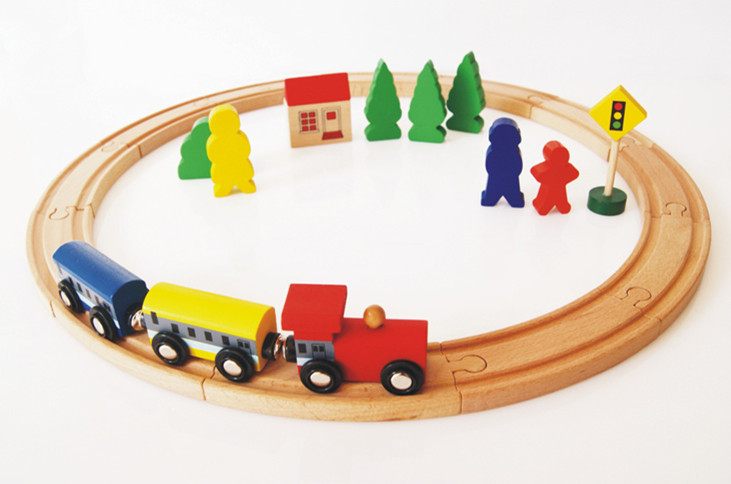 buy baby toys beech wood train assembling set vehicle toys track building. Black Bedroom Furniture Sets. Home Design Ideas