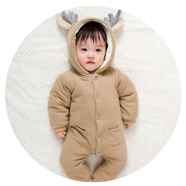 Thick Warm Infant Baby Rompers Winter Clothes Newborn Baby