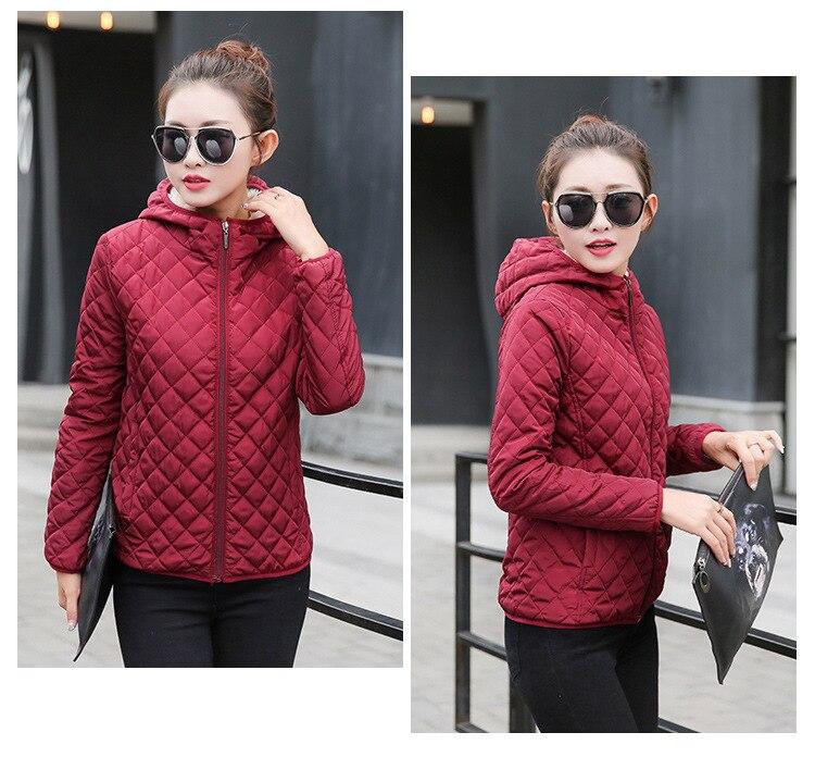 Autumn 2019 New Parkas basic jackets Female Women Winter plus velvet lamb hooded Coats Cotton Winter Jacket Womens Outwear coat 17