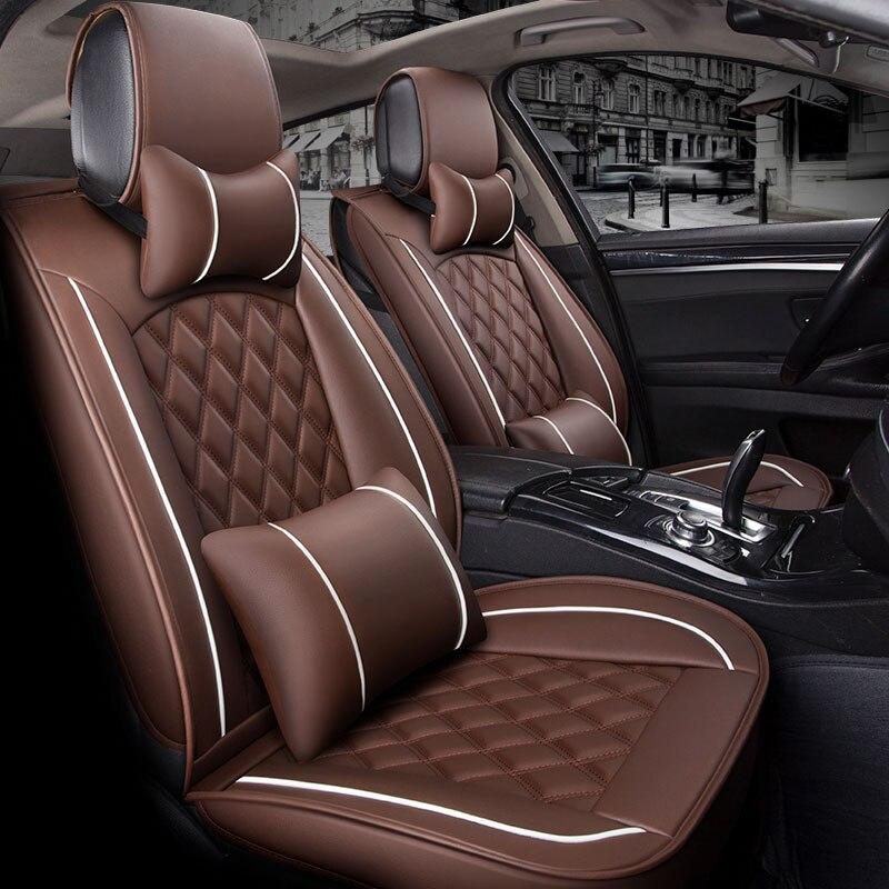 (Avant + arrière) housse de siège de voiture en cuir spécial protecteur sièges auto coussin pour volkswagen vw touareg changan cs35 cs75 roewe 550