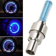 Mayitr 4pcs Car Motorcycle Bicycle Mountain Road Bike Lights Blue LED Flash Tyre Wheel Valve Cap Light Lamp