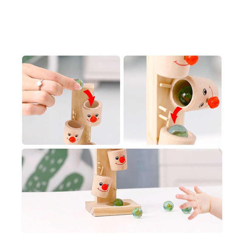 Kinder Pädagogisches Spielzeug Clown Marmor Tisch Spaß Spiele Baby Bälle Interaktive Holz Spielzeug Übung Hand-auge Geschenke