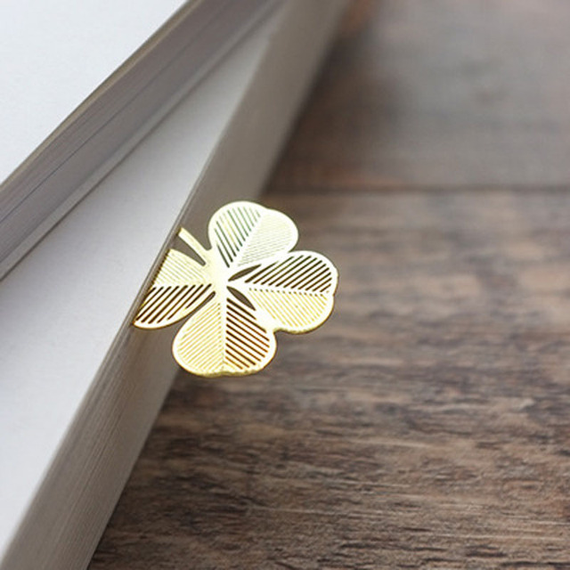 Gold Metal Bookmark 5pcs Choose from Sunflower, Snowflake, Palm Leaf or Dragonfly 1