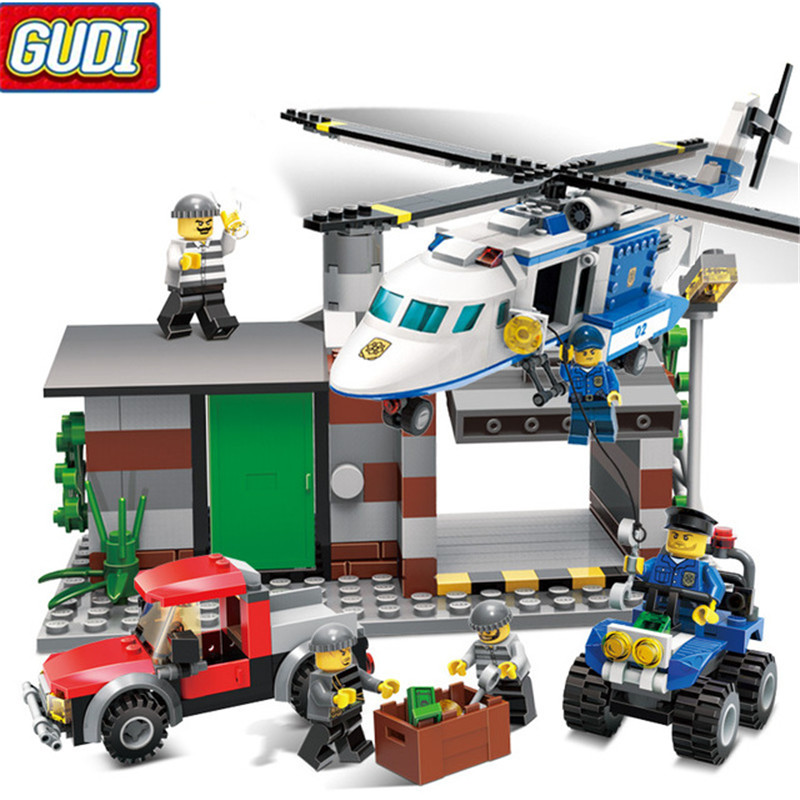Police man helicopter friends Set Building Blocks Set Model Bricks Toys birthday gift for children Toys 9319 black pearl building blocks kaizi ky87010 pirates of the caribbean ship self locking bricks assembling toys 1184pcs set gift