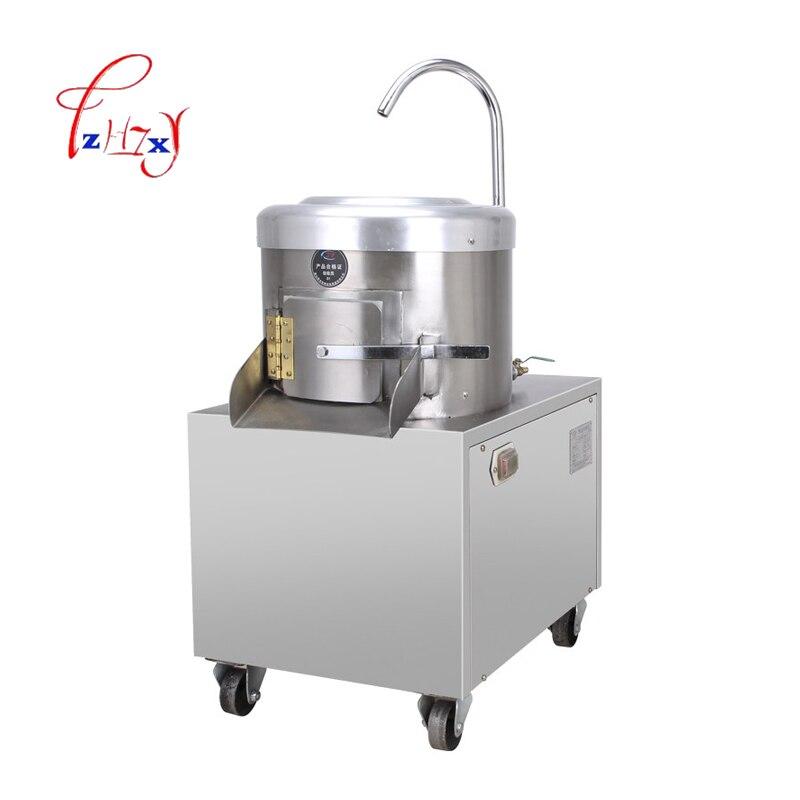 350 KG/H Automatic industrial potato taro peeling/skin removing machine electric Potato Skin Peeler for commercial use 1pc цена и фото