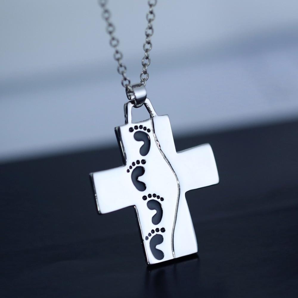 fashion cross men women cross pendant necklace silver. Black Bedroom Furniture Sets. Home Design Ideas