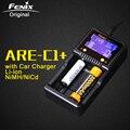 Fenix ARE-C1 + Soporte Cargador Inteligente de La Batería Original AC DC de Carga de 2 Ranuras Cargador Inteligente para Li-ion Ni-MH Ni-cd de Cd 18650 AAA