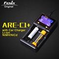 Original Fenix ARE-C1 Inteligente + Suporte Carregador De Bateria AC DC Carregamento 2 Slots Carregador Inteligente para Li-ion Ni-MH Ni-Cd 18650 AAA