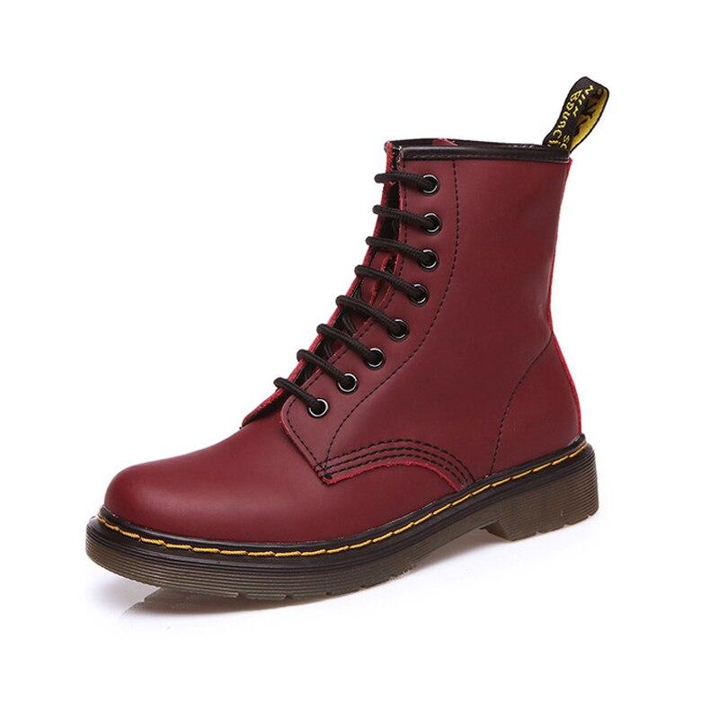 Dr martin stivali di camoscio nero scarpe da donna doc martins scarpe da donna punk martin stivali invernali botas feminina femminile della caviglia di modo