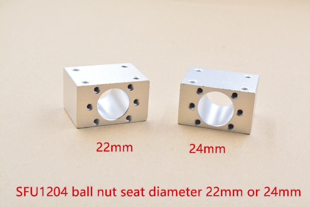 inner hole 22mm or 24mm SFU1204 ball screw nut housing mounting bracket for 1204 ball screw cnc engraving machine part 1pcs