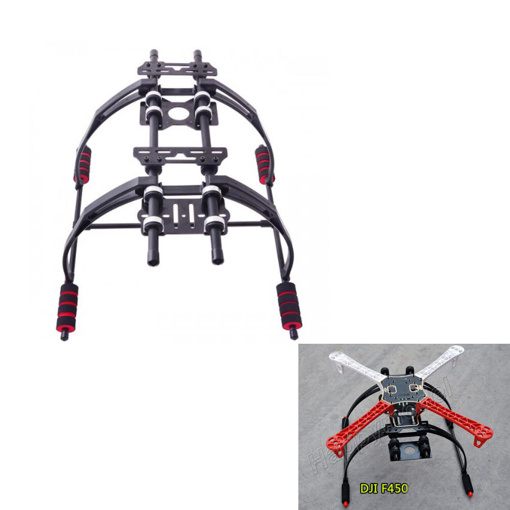 1 set New Metal FPV Anti Vibration Multifonction Landing Skid Kit Pour F450 F550 Quad Hexa copter