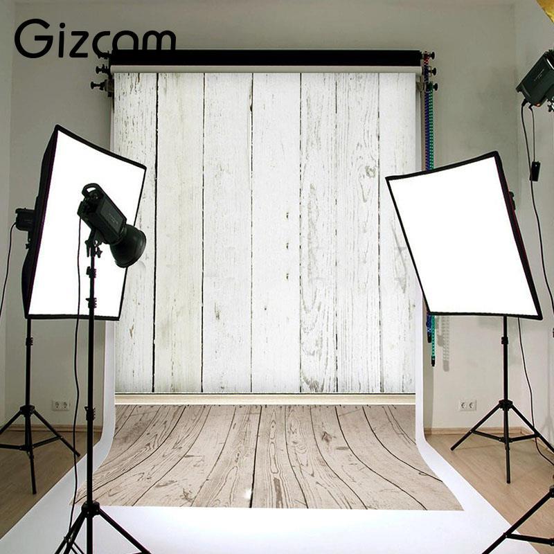 Gizcam Photo Studio Background Backdrop Lighting Photography Cloth Wood Grain Useful Studio Accessories