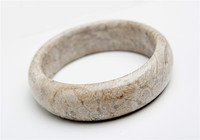 Genuine Natural Coral Gem stone Crystal Round Fashion Bangle Bracelet Inner Diameter 58mm