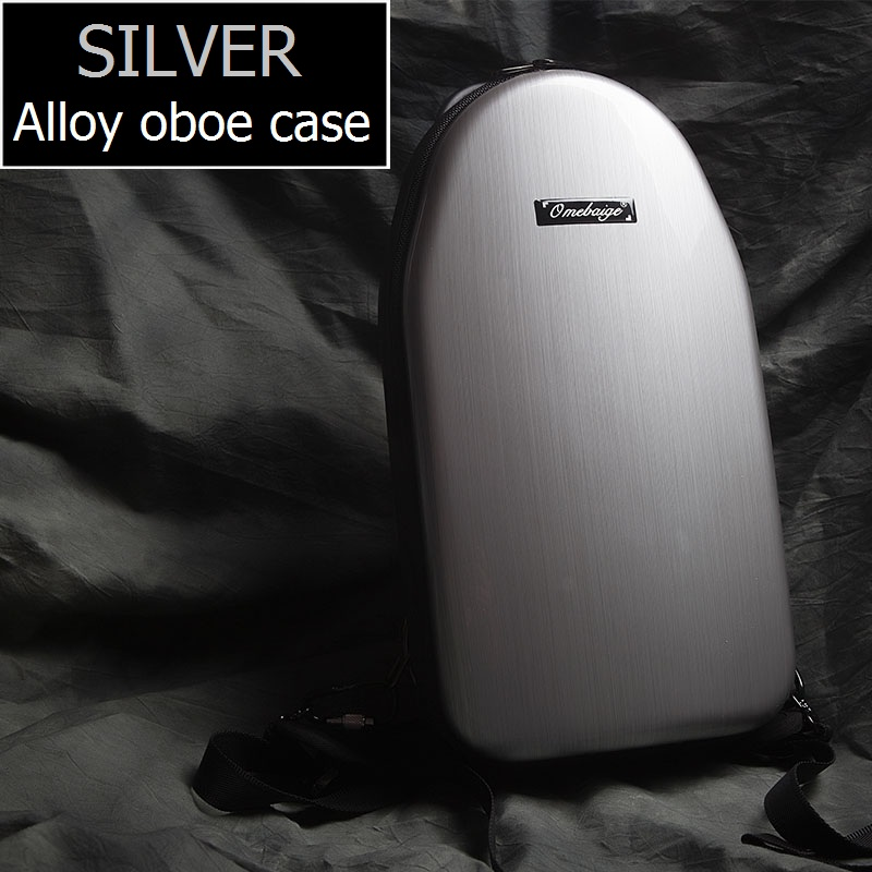 Free shipping shoulders and handle Oboe case alloy box cover waterproof moistureproof Musical oboe box high grade metal case