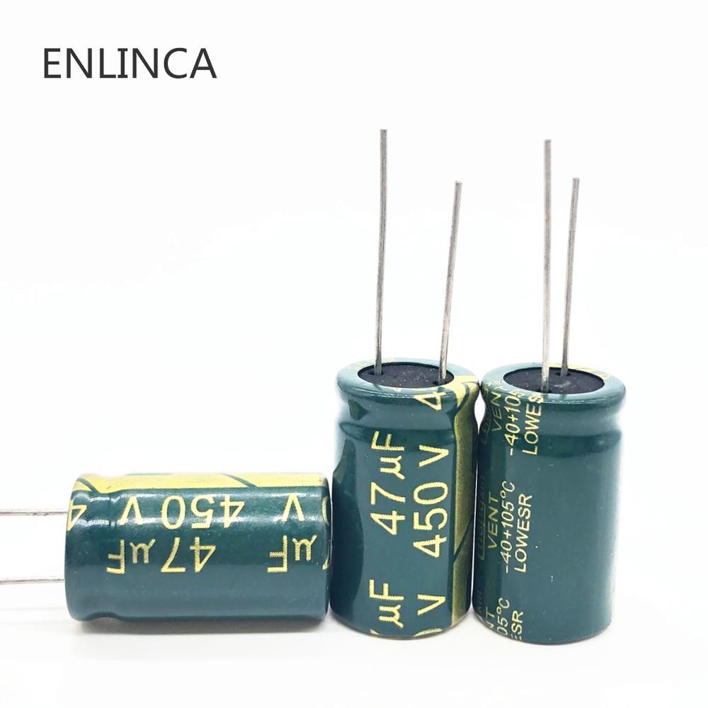 6 pièces/lot 450v 47UF haute fréquence basse impédance 450v47UF condensateur électrolytique en aluminium taille 16*25 20%