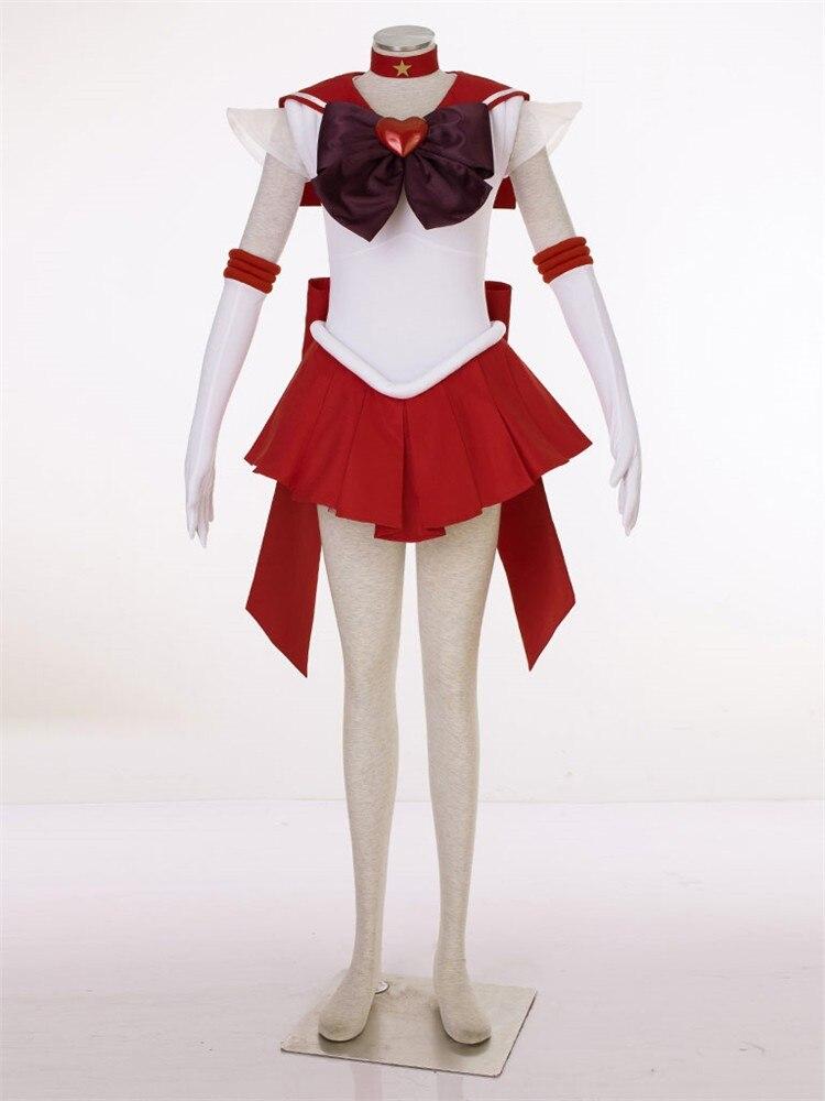 Supers Сейлор Мун Аниме Косплей Хино Рей Сейлор Марс косплей Хэллоуин женские костюмы