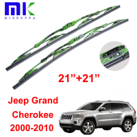 Wiper Blades 21+21 For Jeep Grand Cherokee 2000 2010 Metal Frame Rubber Style Rubber Windscreen Wipers Auto Car Accessories