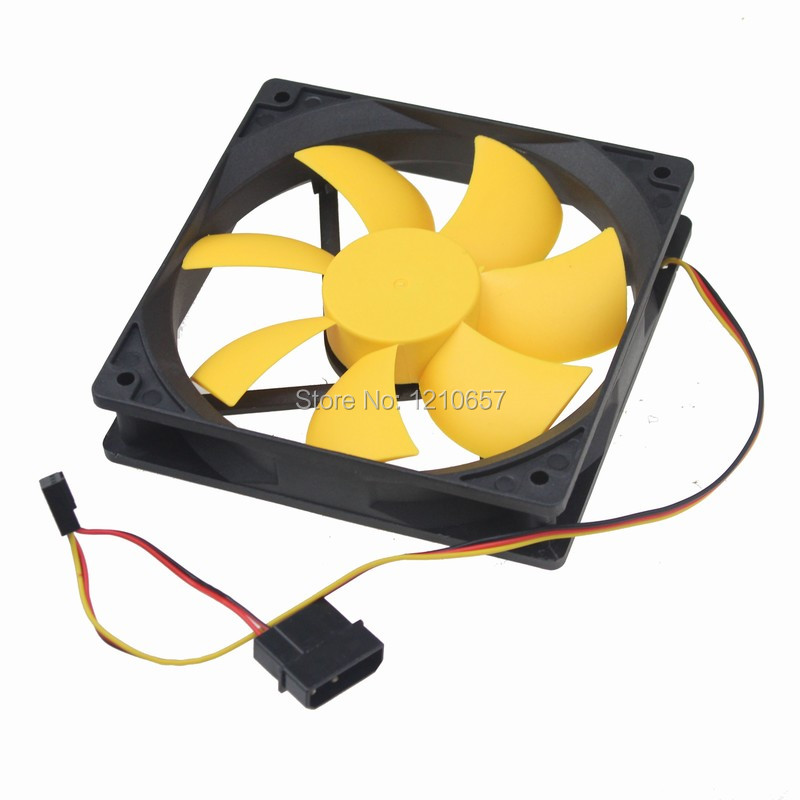 1Pieces Hydraulic Silent Case Fan Quiet Computer PC Cooling 120mm 12cm 120x25mm factory price binmer hot selling 1pcs 120mm 120x25mm 12v 4pin dc brushless pc computer case cooling fan 1800prm drop shipping