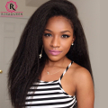 Glueless Lace Front Human Hair Wigs Kinky Straight Virgin Brazilian Italian Yaki Full Lace Human Hair Wigs For Black Women