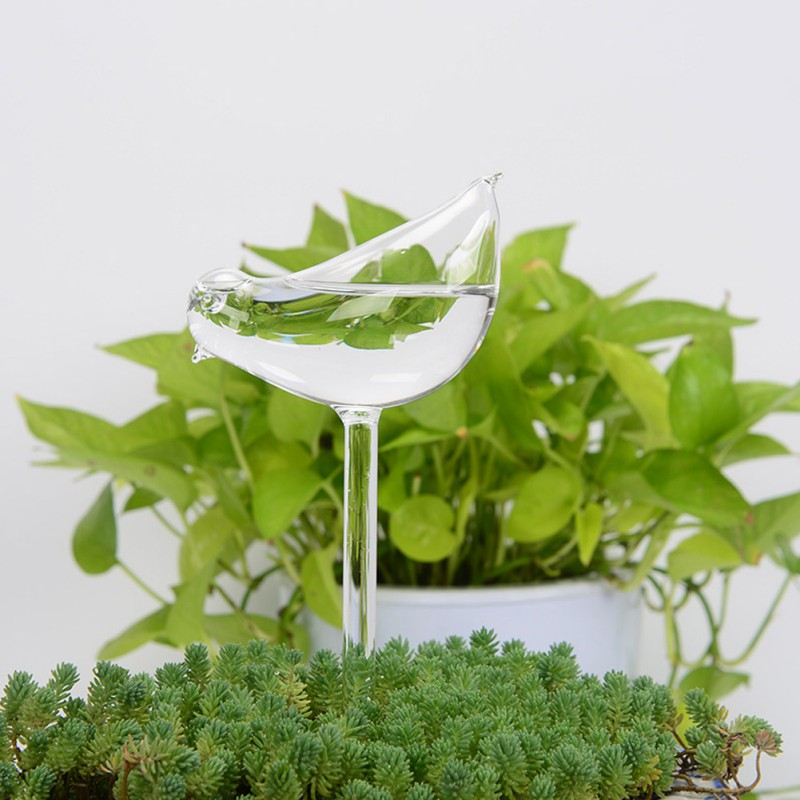 Houseplant Automatic Self Watering Glass Bird Watering Cans Flowers Plant Decorative Clear Glass Watering Device 12 Shapes
