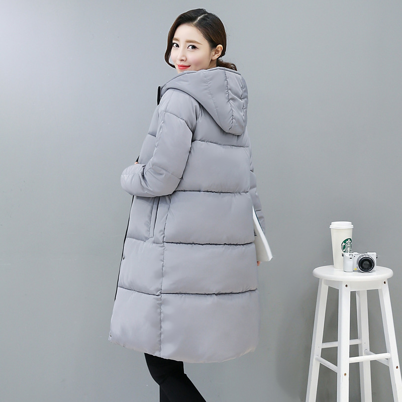 Winter Jacket Women Solid Color Hooded Parka Plus Size Thick Warm Cotton Coat Female Long Femme Casaco Manteau Outwear MZ1668 women s winter jacket hooded thick warm parkas cartton solid high quality cotton coat manteau femme hiver plus size l 4xl dj29
