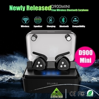 100 Original Newly Released Syllable D900 Mini Bluetooth Stereo Earphone Wireless Music Headset Handsfree Mini Earbud