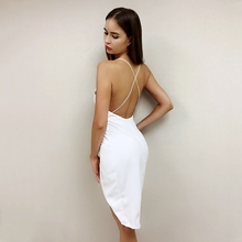 Party Summer  Deep V Neck Bodycon Dress