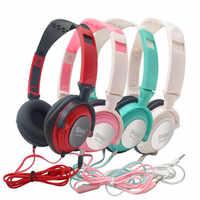 Auriculares auriculares con micrófono 3,5mm AUX plegable portátil Gaming auriculares para teléfonos MP4 ordenador música fone de ouvido