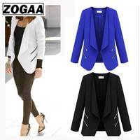 ZOGAA Woman Office Casual Suit Blazer Double Breasted Pocket Jackets Elegant Long Sleeve Outerwear Spring Summer Clothes Women
