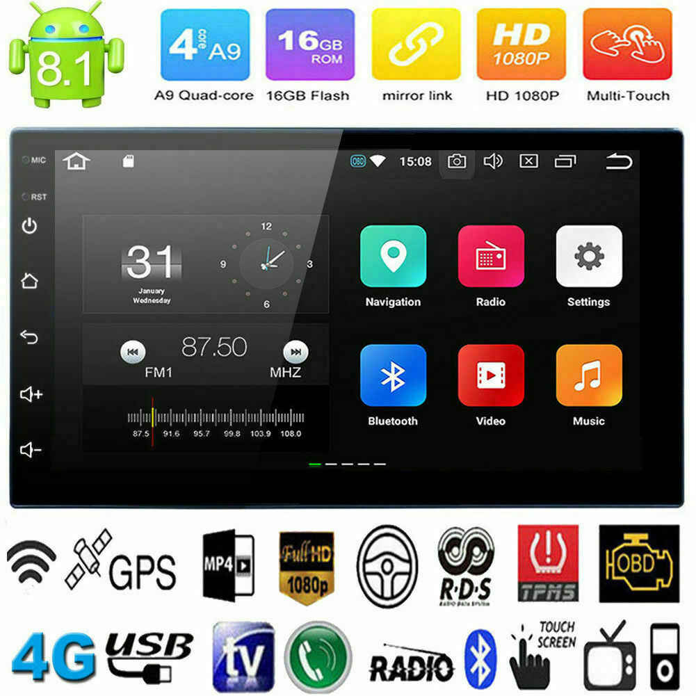 Android 8.1 2 Din Auto radio Multimedia Video Player Universele auto Stereo GPS KAART Voor Volkswagen Nissan Hyundai Kia toyota CR-V