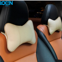 High Quality Genuine Leather Car Seat Cover Headrest Neck Pillow Car Rest Cushion Of Car Pillows