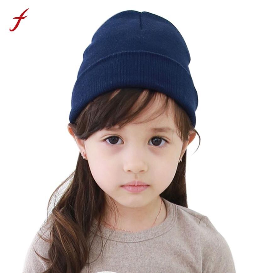 390eaf723b6c Mode Solide Bébé Beanie Bbay Garçon Filles Doux Chapeau Enfants Hiver chaud  Enfants Bonnet Tricoté Pour 4 Mois À 4 Ans bébé