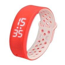 W9 Bluetooth V4.0 шаг счетчик активности на Водонепроницаемый IP67 спортивные Фитнес трекер Смарт-часы браслет, красный