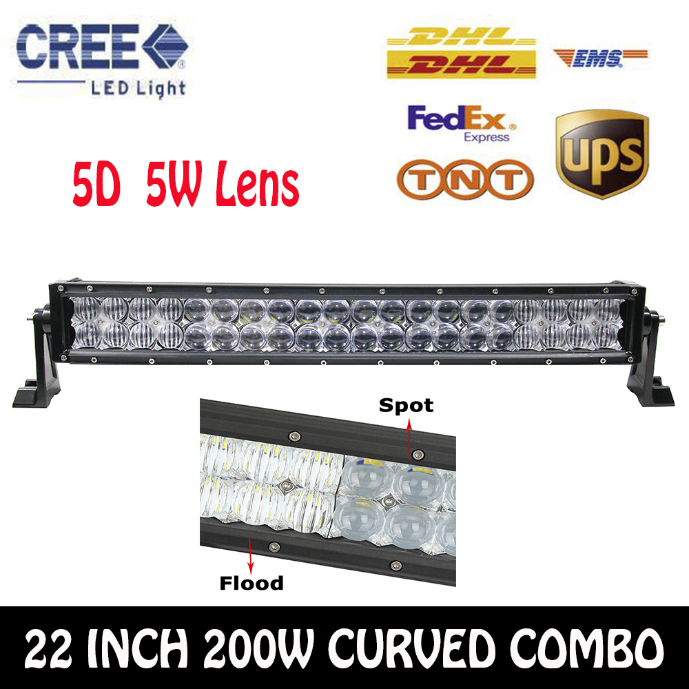 Cree Chips 5D 22Inch 200W Combo Curved LED Work font b Light b font Bar Off