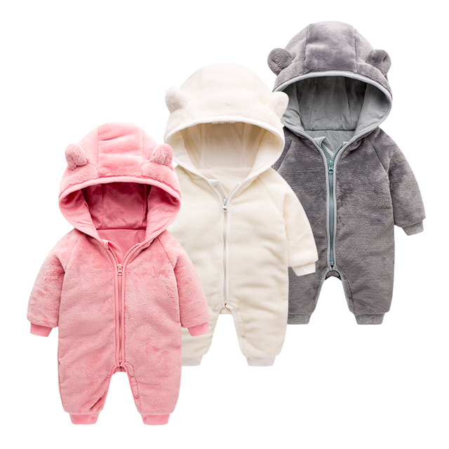 6e6a582648f9 Baby Winter Clothes Newborn Girl Fleece Clothing Jumpsuit Baby Costume For  A Boy Newborn Romper Baby Clothes Winter