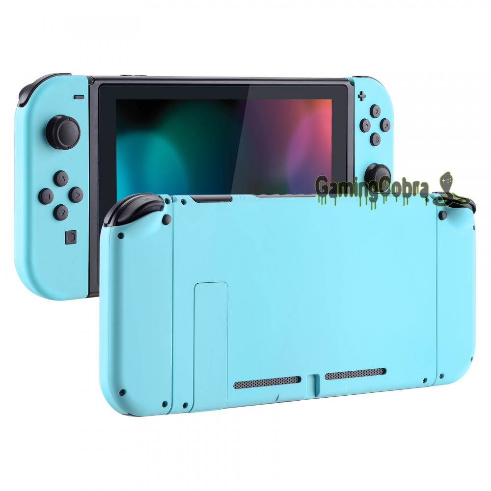 Soft Touch Heaven Blue Back Plate w/ Controller Housing Shell w/ Full Set Buttons for Nintendo Switch Handheld Console & Joy-ConSoft Touch Heaven Blue Back Plate w/ Controller Housing Shell w/ Full Set Buttons for Nintendo Switch Handheld Console & Joy-Con