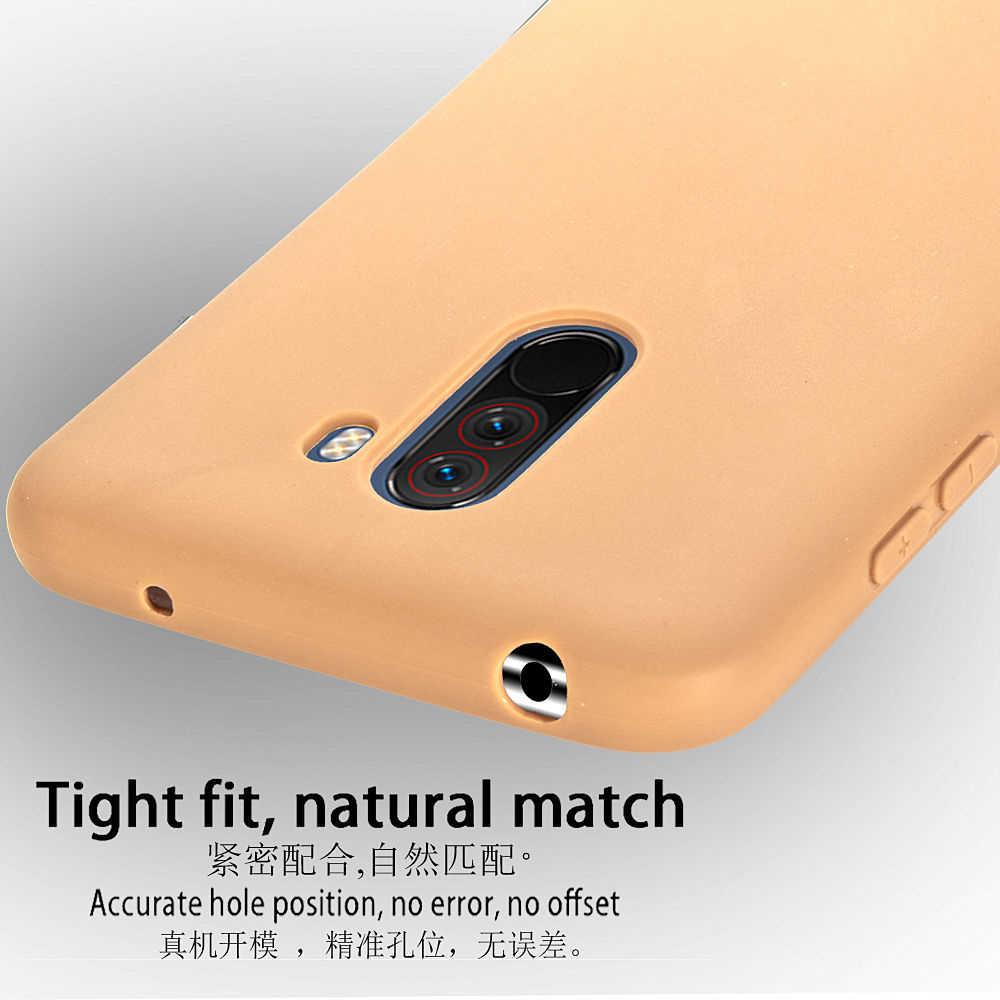 """Pour Pocophone F1 étui souple au toucher souple Silicone liquide étui pour Xiaomi Pocophone F1 couverture Poco F1 petit F1 étui Capa 6.18"""""""
