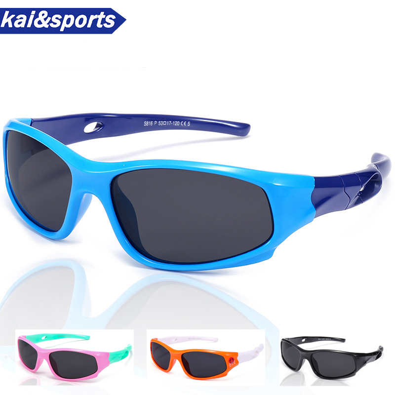 Cycling Eyewear Glasses Memory-Materials Polarizing Boy Girl Fashion Kid UV Children