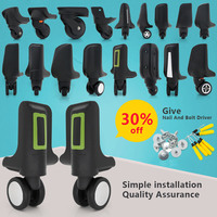 Suitcase Wheels Accessories Universal Wheel Trolley Luggage Replacement Wheels Roller Pulley Wheels And Casters Maintenance