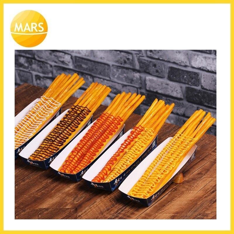 Длинный картофель фри модель поддельные самые длинные картошка фри модель формы ног длинные чипы образец закуски муляжи пищевых продуктов ... - 6