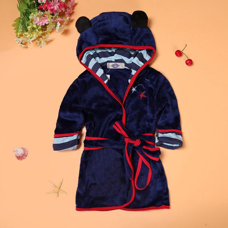 2018 Europe and the United States boys and girls bathrobes children's cartoon bathrobe 2-color home dressing gown