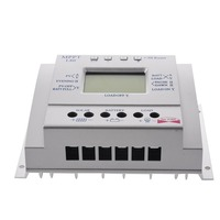 Solar Panel Battery Charge Controller 60A 80A MPPT Solar Panel Charge Control 12V 24V Battery Regulator colour Silver