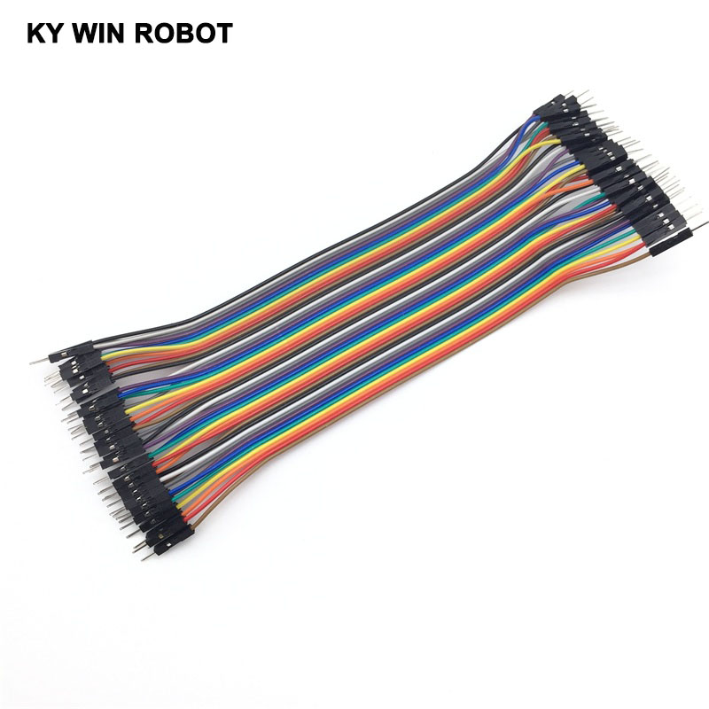 Pozostałe 40pcs Dupont Wire Cable Line 20cm  2.54mm Male to Male Color 1P-1P Pin Connector