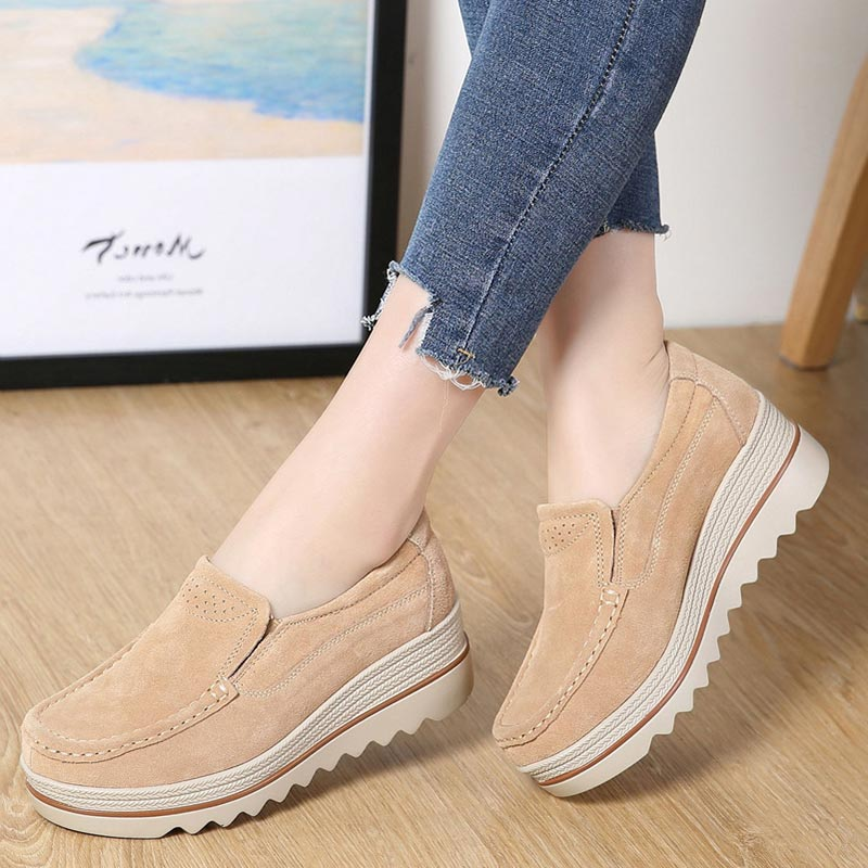 platform shoes 2018 fashion new spring autumn fringed creepers casual shoes women sneakers   suede     leather   flats shoes woman