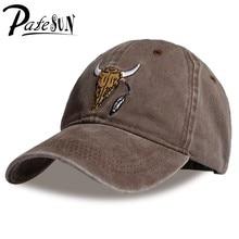 7b68d2a17 Nova Marca Bonés de Beisebol Personalizado Designer 6 PATESUN Painel Pai  Chapéu Cap snapback Chapéu de